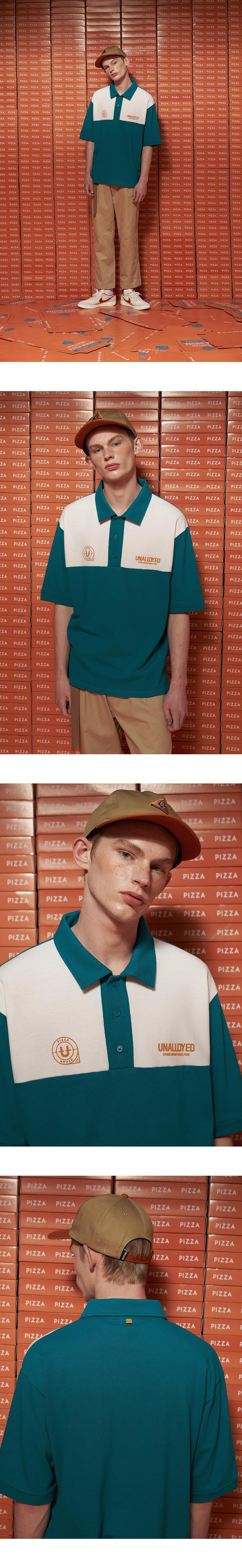 어널로이드(UNALLOYED) 6 패널 피자 캡 / 네이비